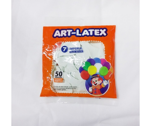 BALAO ART LATEX IMP N7 C/50 - BRANCO