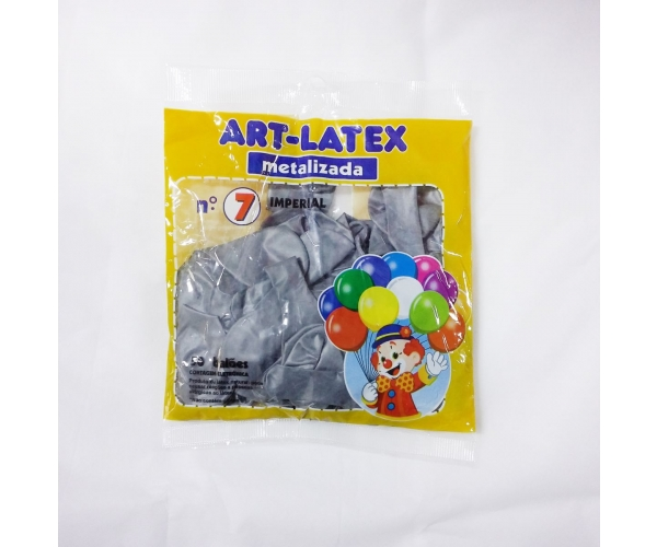 BALAO ART LATEX IMP N7 METAL C/50 - PRATA