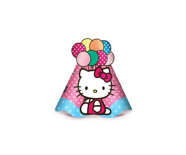 CHAPEU ANIV. C/8 - HELLO KITTY