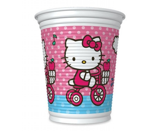 COPO ANIV. PLAST C/08 - HELLO KITTY