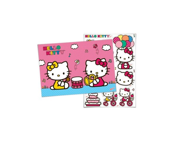 KIT ANIV DECORATIVO PAPEL - HELLO KITTY