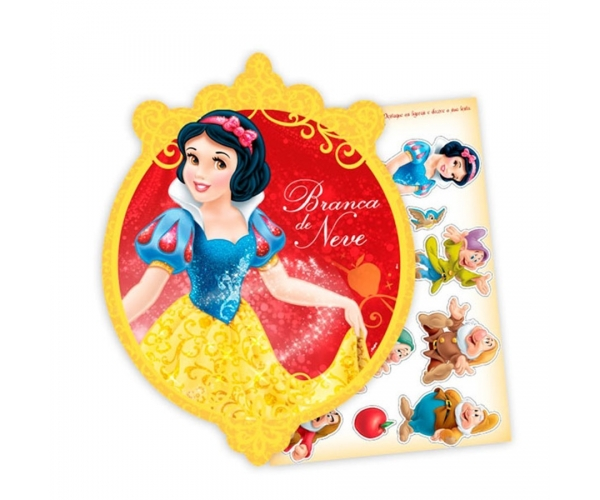 KIT ANIV DECORATIVO PAPEL - BRANCA DE NEVE