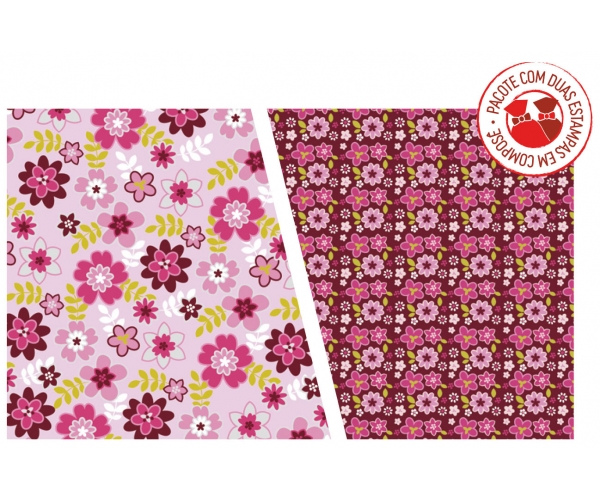 SACO METAL/PEROL 10X14 C/50 - COMP. HAPPY FLOWERS